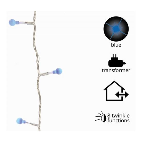 Kerstverlichting LED blauwe lampjes 80 stuks