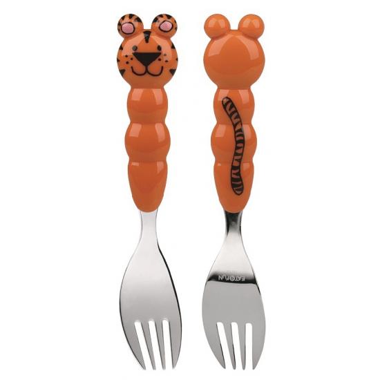 Kinder bestek vork tijger (bron: Feestwinkel Fun en Feest)