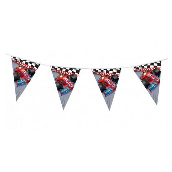 Kinderfeest thema Formule 1 vlaggenlijn slingers