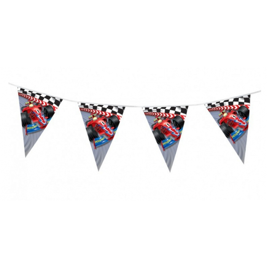 Kinderfeest thema Formule 1 vlaggenlijn