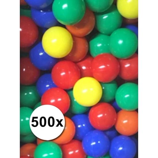 Kleurige ballenbak ballen 500 stuks (bron: Feestwinkel Fun en Feest)