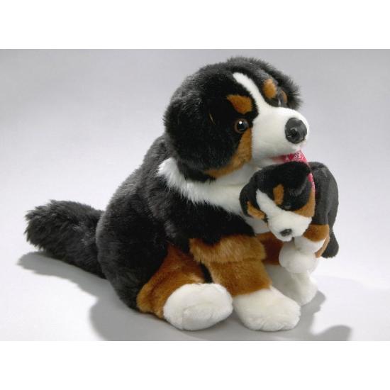 Knuffel hond Berner Sennen 30 cm (bron: Feestwinkel Fun en Feest)