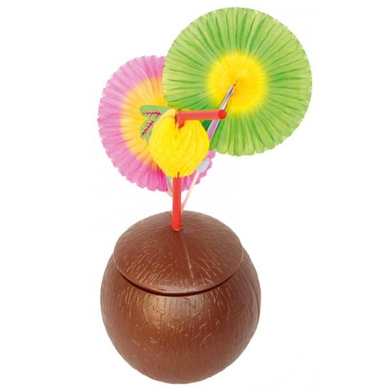 Kokosnoot beker met deksel (bron: Feestwinkel Fun en Feest)