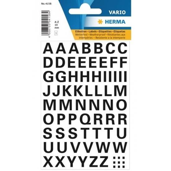 Letterstickers zwart 10mm 65x (bron: Feestwinkel Fun en Feest)