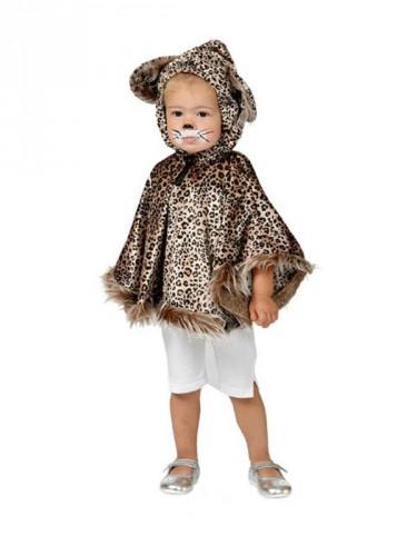 Luipaard poncho voor peuters (bron: Feestwinkel Fun en Feest)