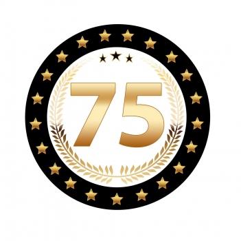 Luxe 75 jarige bierviltjes (bron: Feestwinkel Fun en Feest)