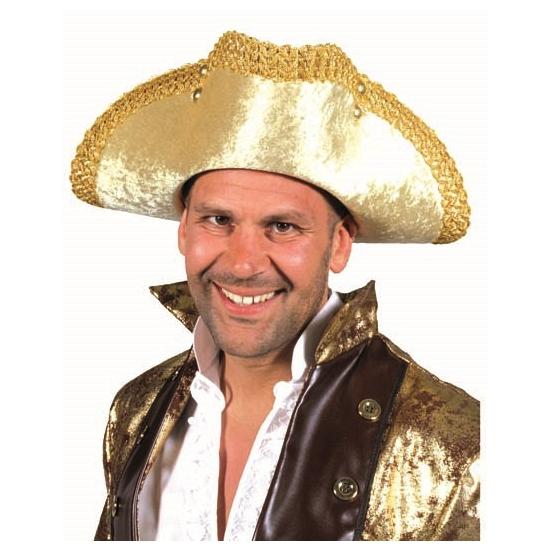 Luxe gouden piraten hoed