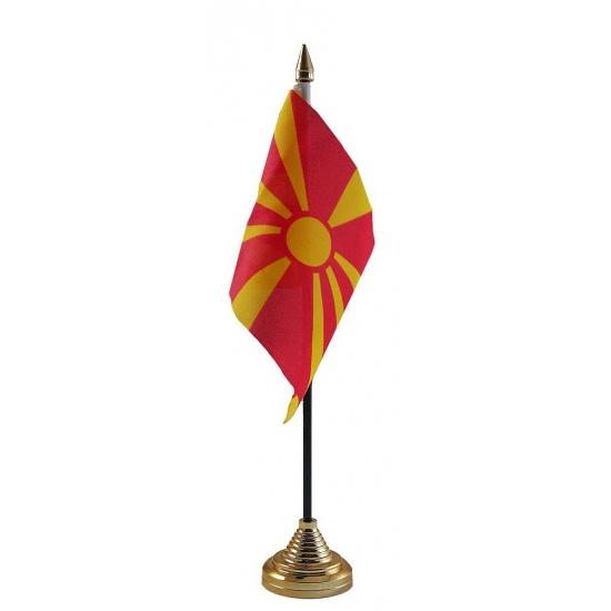 Macedonie tafelvlaggetje (bron: Feestwinkel Fun en Feest)