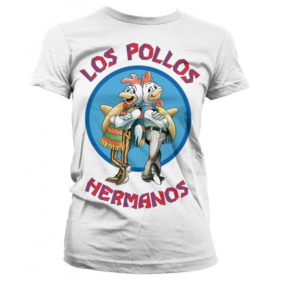 Merchandise shirt Los Pollos Hermanos wit (bron: Feestwinkel Fun en Feest)