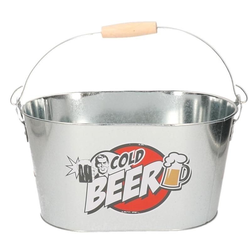 Metalen ijsemmer voor koud bier