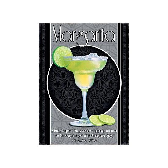 Metalen wand bordje Margarita (bron: Feestwinkel Fun en Feest)