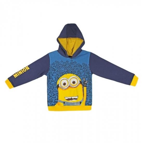 Minions kinder sweater met capuchon (bron: Feestwinkel Fun en Feest)