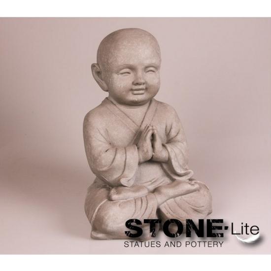 Monnik beeldje meditatie 25 cm