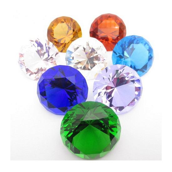 Mooie groene decoratie diamant 4 cm (bron: Feestwinkel Fun en Feest)