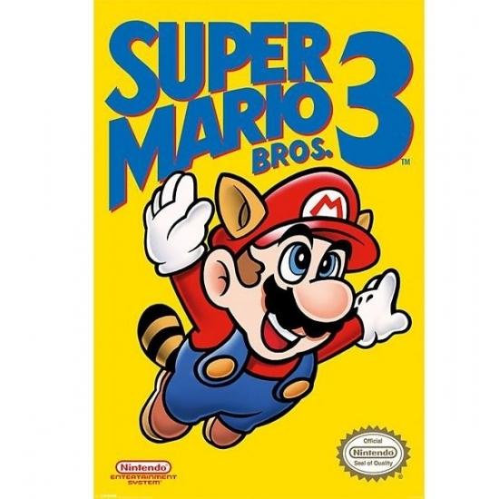 Nintendo Mario Bros kinder posters (bron: Feestwinkel Fun en Feest)