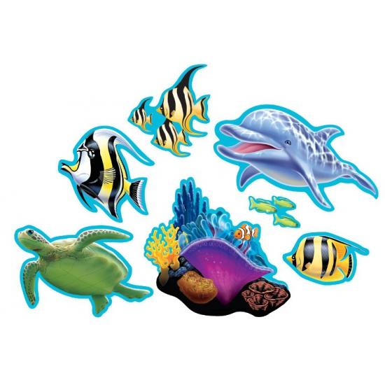 Oceaan thema decoraties 7 stuks (bron: Feestwinkel Fun en Feest)