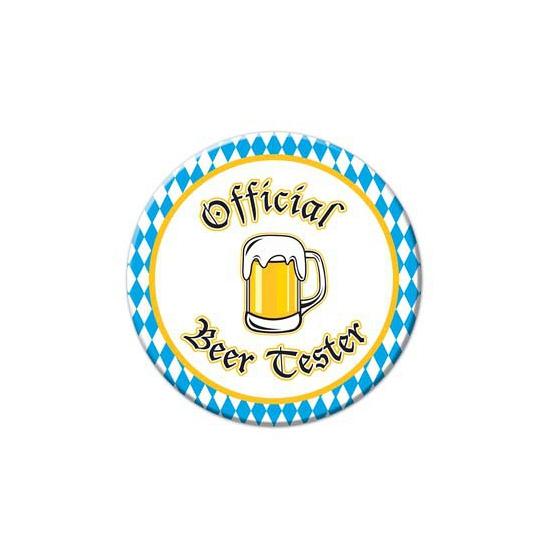 Oktoberfest buttons Beer Tester (bron: Feestwinkel Fun en Feest)