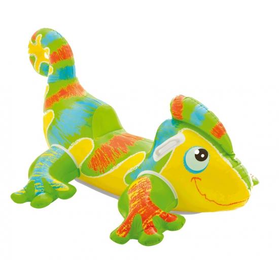 Opblaasbare gekko met handgrepen (bron: Feestwinkel Fun en Feest)