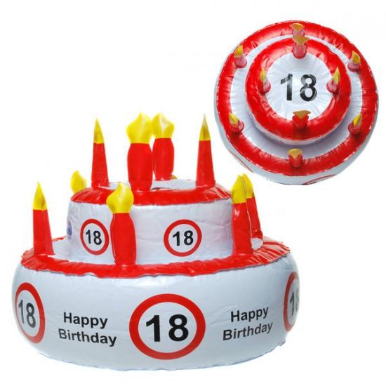 Opblaasbare Taart Hoed 18 Jaar Fun en feest kopen