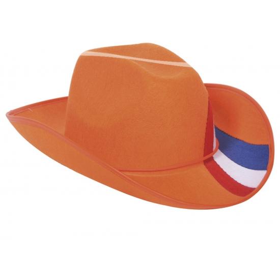 Oranje cowboy hoed Nederland (bron: Feestwinkel Fun en Feest)