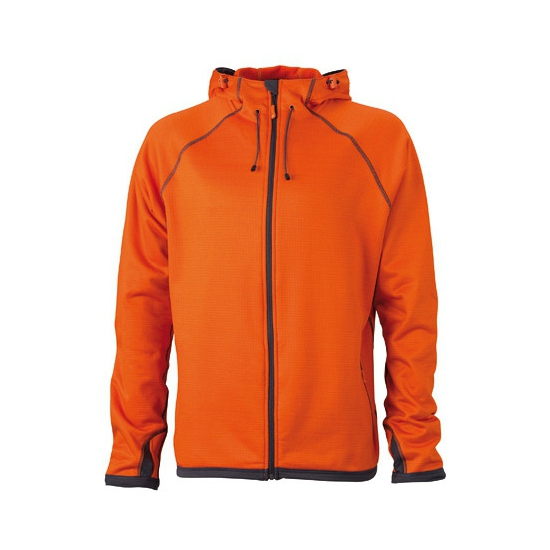 Oranje heren fleece vesten (bron: Feestwinkel Fun en Feest)