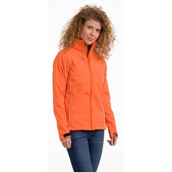 Oranje polyester damesjas (bron: Feestwinkel Fun en Feest)