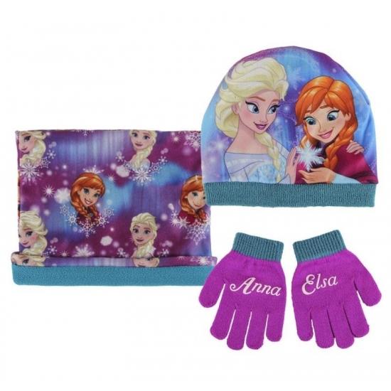 Paarse meisjes winter setje Frozen (bron: Feestwinkel Fun en Feest)