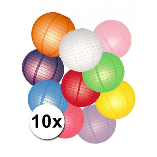 Pakket met gekleurde lampionnen (bron: Feestwinkel Fun en Feest)