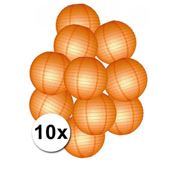 Pakket met oranje lampionnen (bron: Feestwinkel Fun en Feest)