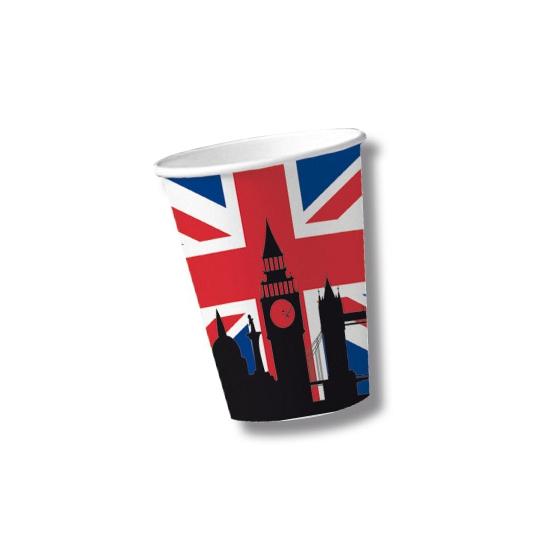 Papieren United Kingdom bekers 10 st (bron: Feestwinkel Fun en Feest)