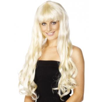 Paris pruik met lang blond haar (bron: Feestwinkel Fun en Feest)