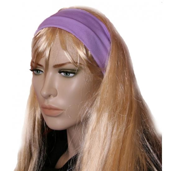 Pastel paarse dames haarband (bron: Feestwinkel Fun en Feest)