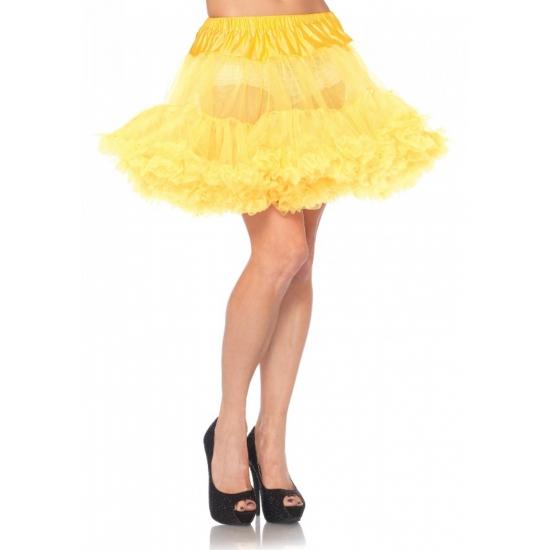 Petticoat luxe geel voor dames (bron: Feestwinkel Fun en Feest)