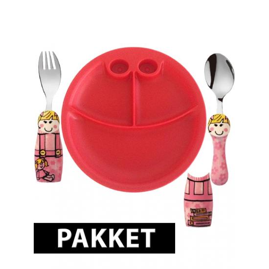 Peuters ontbijtservies voor meiden (bron: Feestwinkel Fun en Feest)