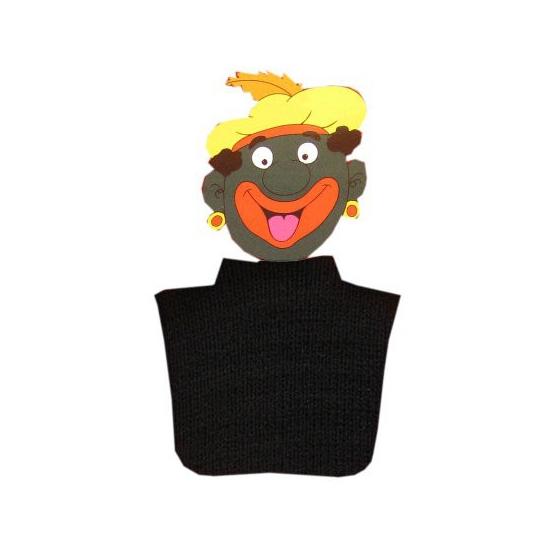 Pietcol zwart (bron: Feestwinkel Fun en Feest)