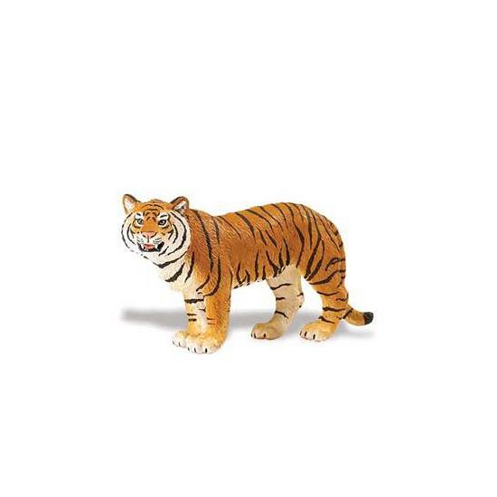 Plastic Bengaalse tijgerin bruin 14 cm (bron: Feestwinkel Fun en Feest)