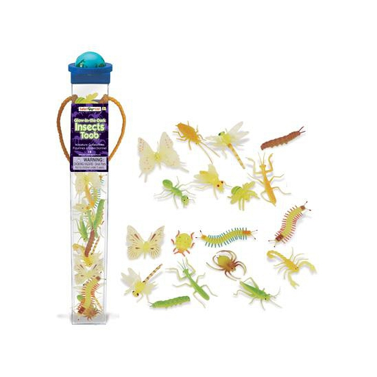 Plastic insecten dieren glow in the dark 18 stuks (bron: Feestwinkel Fun en Feest)