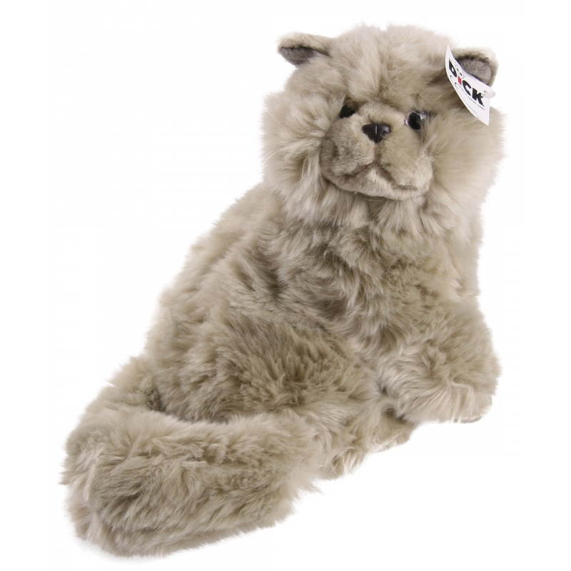 Pluche knuffel kat grijs 30 cm