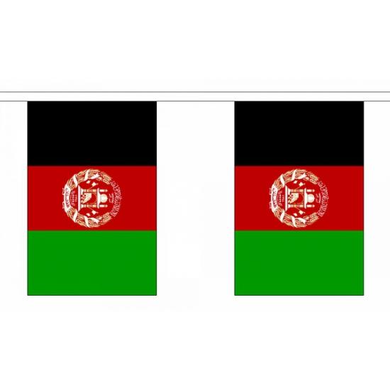 Polyester vlaggenlijn afghanistan (bron: Feestwinkel Fun en Feest)