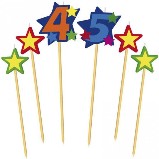 Prikker kaarsjes cijfer 45 (bron: Feestwinkel Fun en Feest)