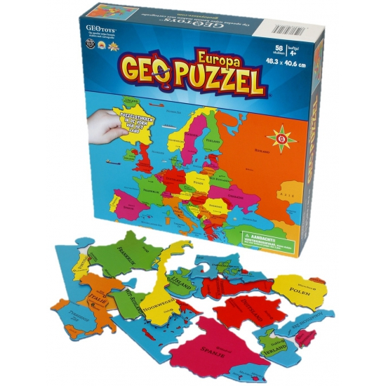 Puzzel van Europa 58 stukjes