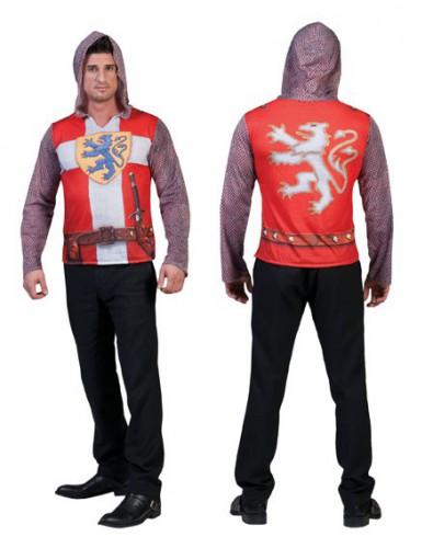 Ridderpak 3D t-shirt voor heren (bron: Feestwinkel Fun en Feest)