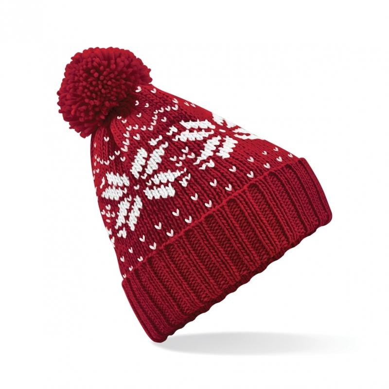 Rode wintermuts Snowstar Classic (bron: Feestwinkel Fun en Feest)
