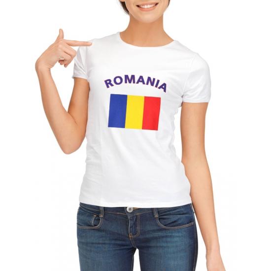 Roemeense vlag t-shirt voor dames