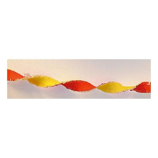 Rood gele versiering slinger 30 meter