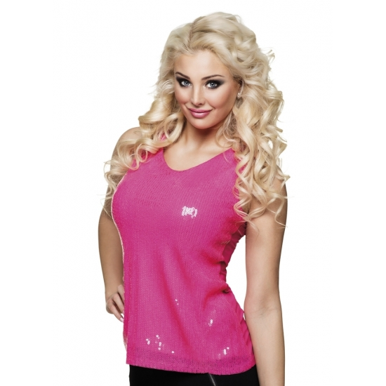 Roze dames top met pailletten