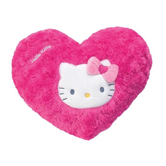 Roze pluche Hello Kitty kussentje