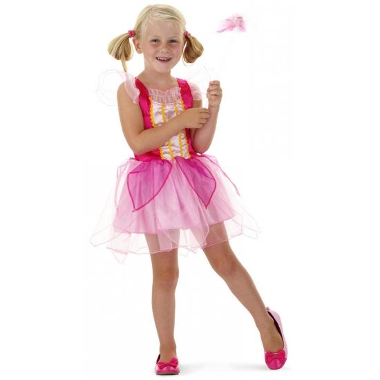 Roze prinsessen outfit met toverstaf (bron: Feestwinkel Fun en Feest)