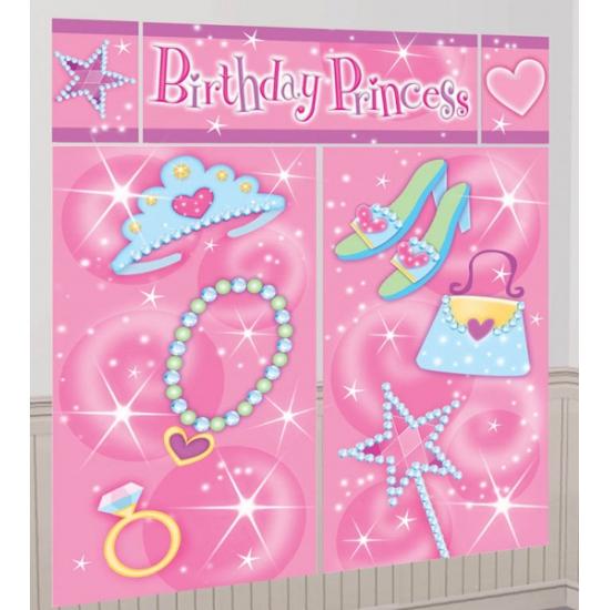 Roze verjaardag decoratie 165 x 190 cm (bron: Feestwinkel Fun en Feest)