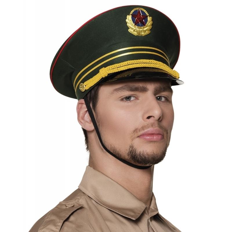 Russische militair pet groen (bron: Feestwinkel Fun en Feest)